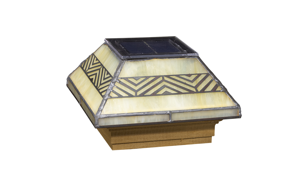 Deckorators® Filigreed Chevron Solar Glass