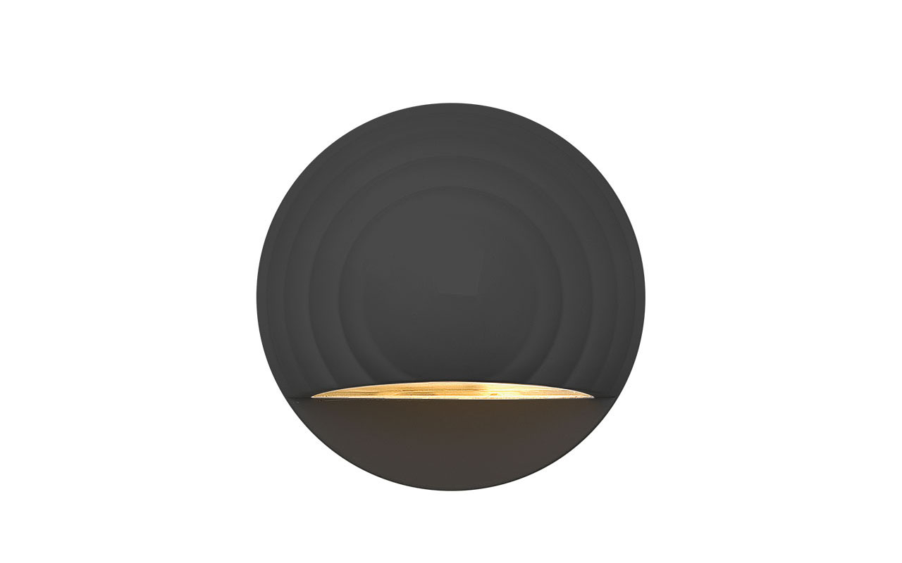 Deckorators® Round Deck Sconce Black