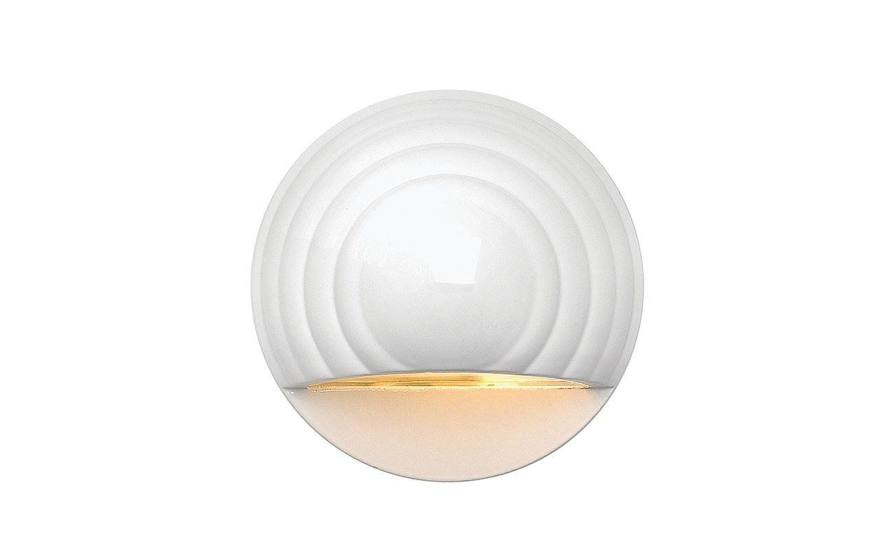 Deckorators® Round Deck Sconce White