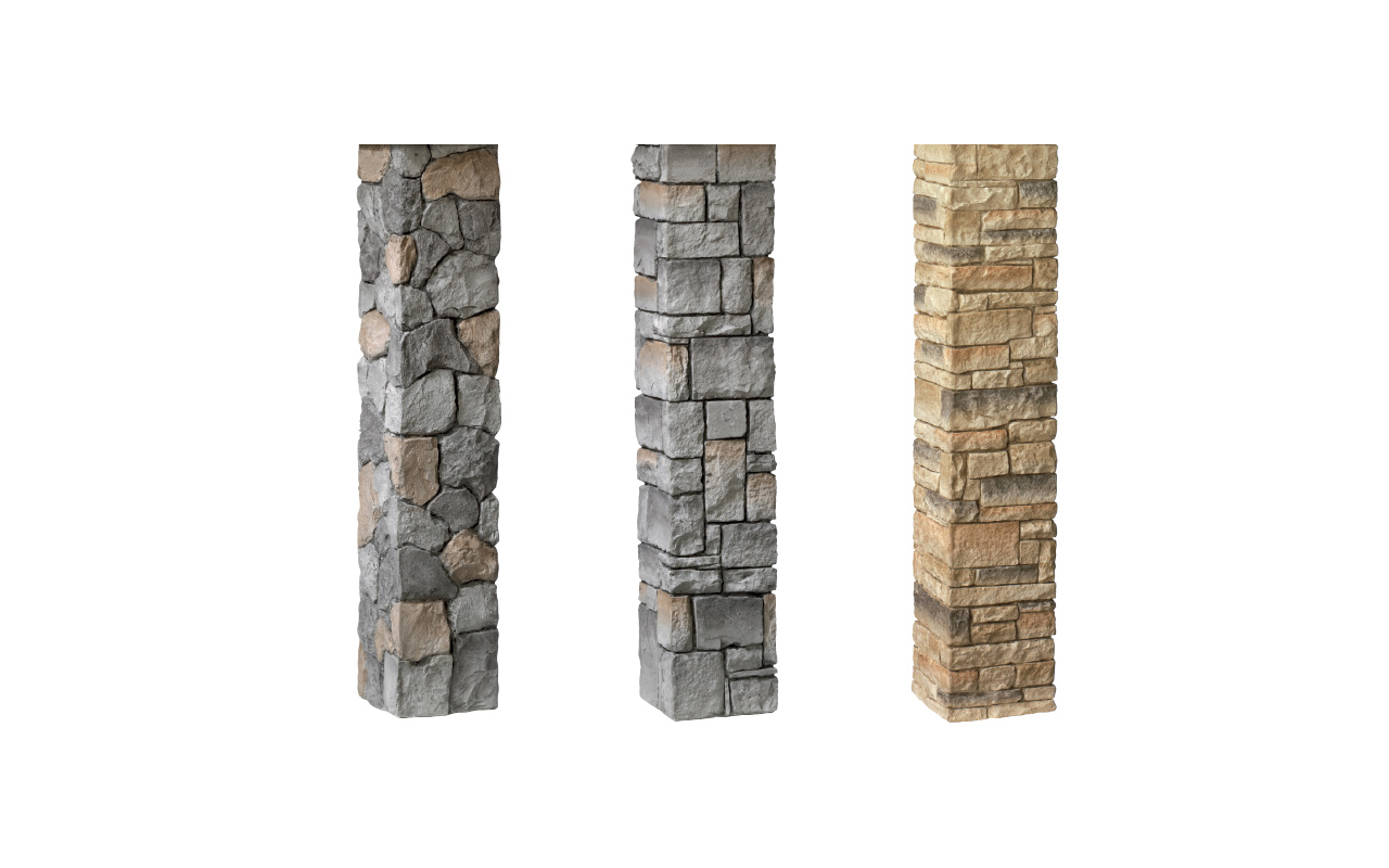 Deckorators® Stacked Stone Postcovers