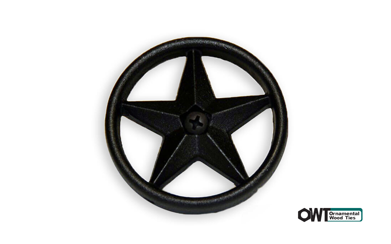 ozco-2-3:8″ Decorative Metal Star (10PK)
